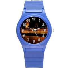 Houses Of Parliament Round Plastic Sport Watch (s) by Nexatart