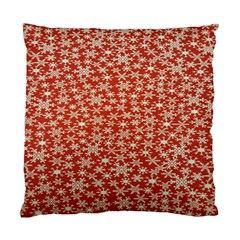 Holiday Snow Snowflakes Red Standard Cushion Case (two Sides) by Nexatart