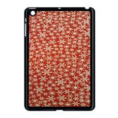 Holiday Snow Snowflakes Red Apple Ipad Mini Case (black) by Nexatart