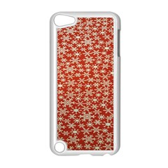 Holiday Snow Snowflakes Red Apple Ipod Touch 5 Case (white) by Nexatart