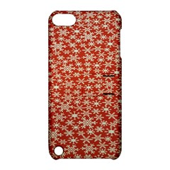 Holiday Snow Snowflakes Red Apple Ipod Touch 5 Hardshell Case With Stand