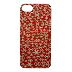 Holiday Snow Snowflakes Red Apple Iphone 5s/ Se Hardshell Case