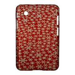 Holiday Snow Snowflakes Red Samsung Galaxy Tab 2 (7 ) P3100 Hardshell Case