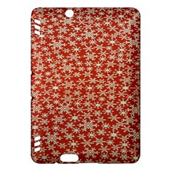 Holiday Snow Snowflakes Red Kindle Fire Hdx Hardshell Case