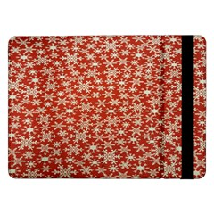Holiday Snow Snowflakes Red Samsung Galaxy Tab Pro 12 2  Flip Case