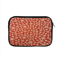 Holiday Snow Snowflakes Red Apple Macbook Pro 15  Zipper Case by Nexatart