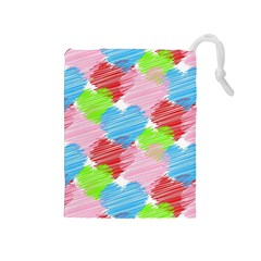 Holidays Occasions Valentine Drawstring Pouches (medium)