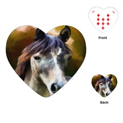 Horse Horse Portrait Animal Playing Cards (heart)