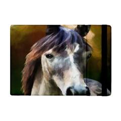 Horse Horse Portrait Animal Apple Ipad Mini Flip Case