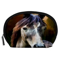 Horse Horse Portrait Animal Accessory Pouches (large)  by Nexatart