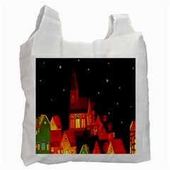 Market Christmas Light Recycle Bag (one Side)