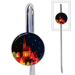 Market Christmas Light Book Mark by Nexatart