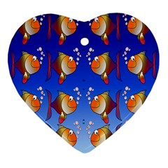 Illustration Fish Pattern Ornament (heart)