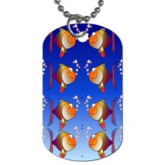 Illustration Fish Pattern Dog Tag (two Sides) by Nexatart