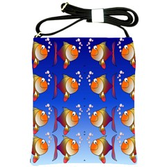 Illustration Fish Pattern Shoulder Sling Bags by Nexatart