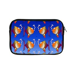 Illustration Fish Pattern Apple Macbook Pro 13  Zipper Case by Nexatart