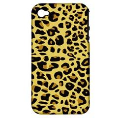 Jaguar Fur Apple Iphone 4/4s Hardshell Case (pc+silicone)