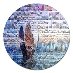 Hong Kong Travel Magnet 5  (round)