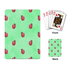 Ladybug Pattern Playing Card