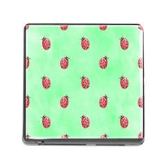 Ladybug Pattern Memory Card Reader (square)