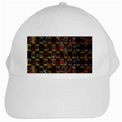 Kaleidoscope Pattern Abstract Art White Cap