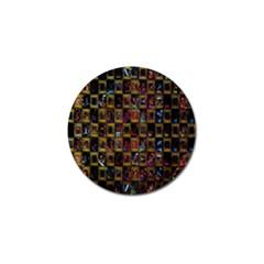 Kaleidoscope Pattern Abstract Art Golf Ball Marker (4 Pack) by Nexatart