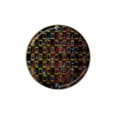 Kaleidoscope Pattern Abstract Art Hat Clip Ball Marker by Nexatart