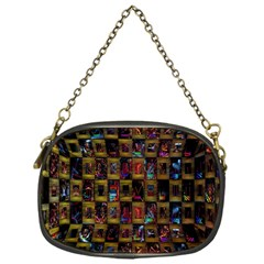 Kaleidoscope Pattern Abstract Art Chain Purses (one Side)  by Nexatart