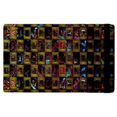 Kaleidoscope Pattern Abstract Art Apple Ipad 2 Flip Case