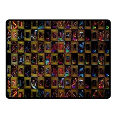 Kaleidoscope Pattern Abstract Art Double Sided Fleece Blanket (small)  by Nexatart