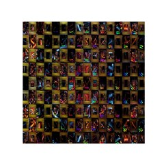 Kaleidoscope Pattern Abstract Art Small Satin Scarf (square)