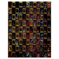 Kaleidoscope Pattern Abstract Art Drawstring Bag (large) by Nexatart