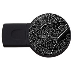 Leaf Pattern  B&w USB Flash Drive Round (1 GB) by Nexatart