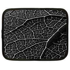 Leaf Pattern  B&w Netbook Case (xl)