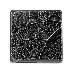 Leaf Pattern  B&w Memory Card Reader (square)