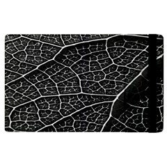 Leaf Pattern  B&w Apple Ipad 2 Flip Case by Nexatart