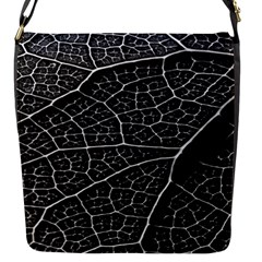 Leaf Pattern  B&w Flap Messenger Bag (s) by Nexatart