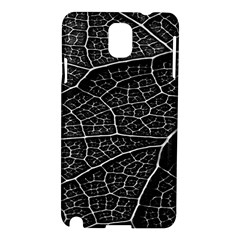 Leaf Pattern  B&w Samsung Galaxy Note 3 N9005 Hardshell Case by Nexatart