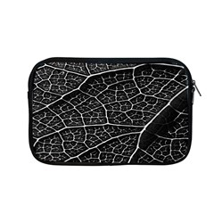 Leaf Pattern  B&w Apple Macbook Pro 13  Zipper Case by Nexatart