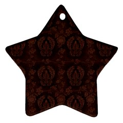 Leaf Pattern Green Wallpaper Tea Leather Ornament (star) by Nexatart