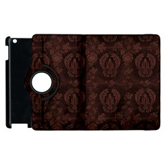 Leaf Pattern Green Wallpaper Tea Leather Apple Ipad 3/4 Flip 360 Case
