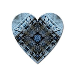 Jeans Background Heart Magnet