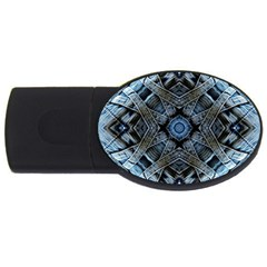 Jeans Background Usb Flash Drive Oval (2 Gb)