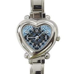 Jeans Background Heart Italian Charm Watch by Nexatart