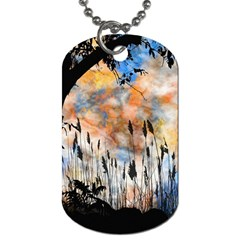 Landscape Sunset Sky Summer Dog Tag (two Sides)
