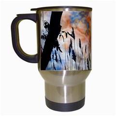Landscape Sunset Sky Summer Travel Mugs (white) by Nexatart