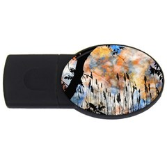 Landscape Sunset Sky Summer Usb Flash Drive Oval (4 Gb)