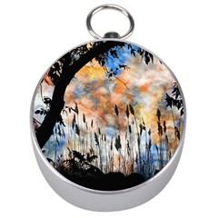 Landscape Sunset Sky Summer Silver Compasses by Nexatart