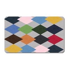Leather Colorful Diamond Design Magnet (rectangular)