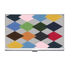 Leather Colorful Diamond Design Business Card Holders